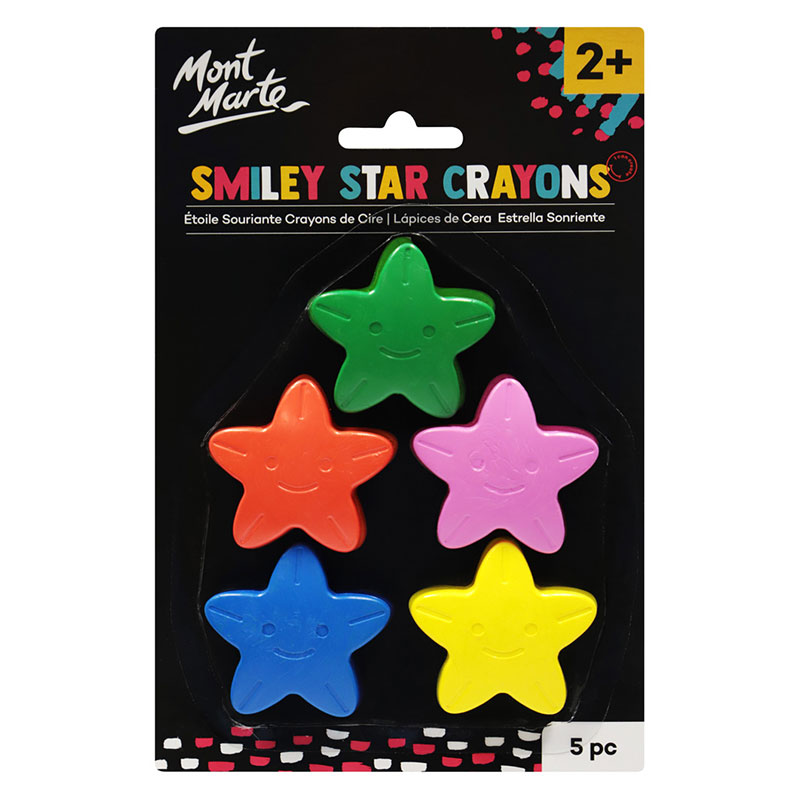 Smiley Star Crayons 5 buc.