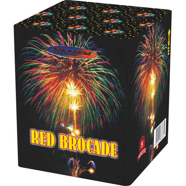 Focul de artificiu Red Brocade 9 focuri GW218-73