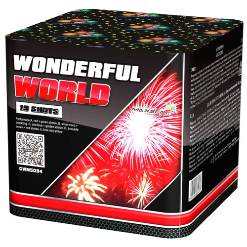 Focul de artificiu Wonderful world 19 focuri GWM5034