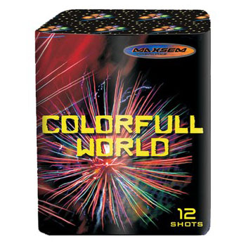 Focul de artificiu Colorfull world 12 focuri GW 218-94